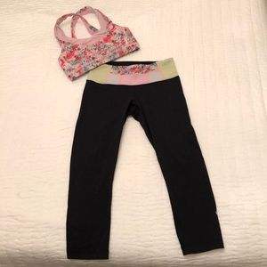 lululemon athletica Other - Lululemon Crop Pants and Matching Sports Bra